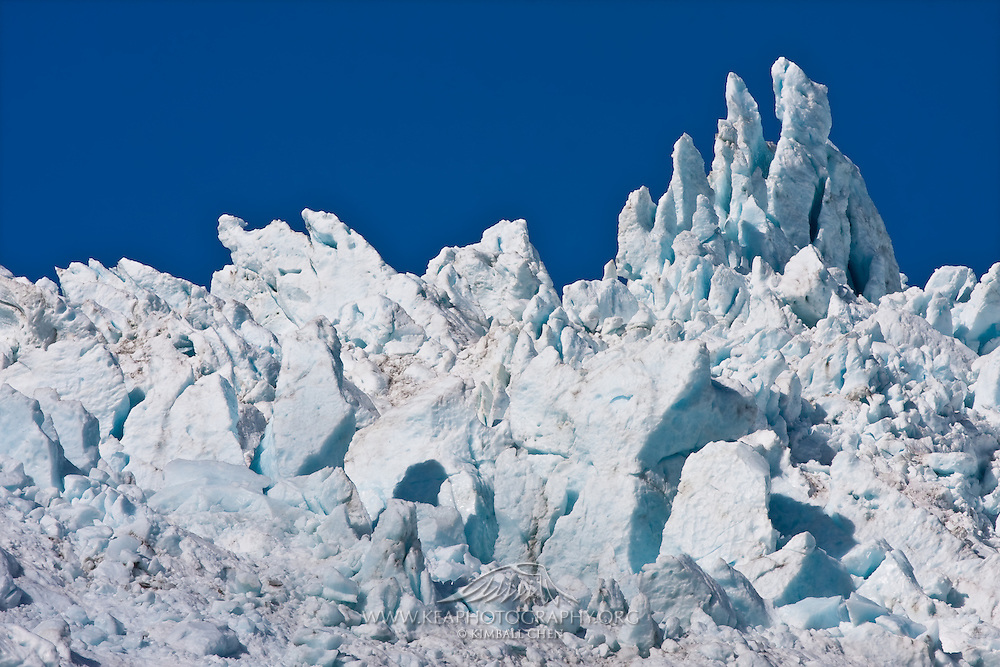 Ice castle formed by nature, at Franz Josef Glacier, West Coast, New Zealand