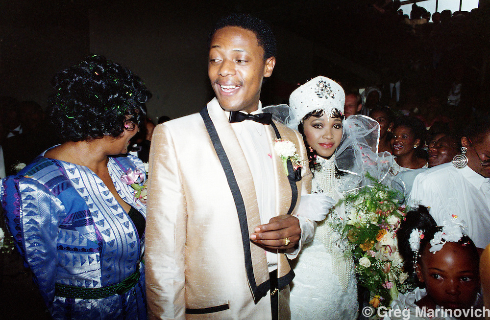 Johannesburg, South Africa, 1992. Zinzi Mandela's wedding 24 October 1992, daughter of Winnie and Nelson Mandela,