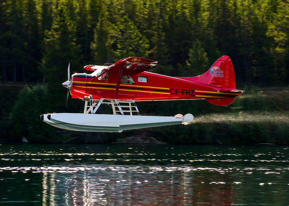 What a way to start a sunny Saturday morning: Alpine Aviation's DHC-2 Beaver departing from Schwatka Lake, Yukon.