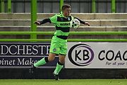 Forest Green Rovers Ethan Hill(3) controls the ball during the FA Youth Cup match between U18 Forest Green Rovers and U18 Cheltenham Town at the New Lawn, Forest Green, United Kingdom on 29 October 2018.