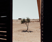 A view of the desert from a Bedouin home near El Daba.