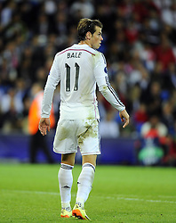 Real Madrid's Gareth Bale - Photo mandatory by-line: Joe Meredith/JMP - Mobile: 07966 386802 12/08/2014 - SPORT - FOOTBALL - Cardiff - Cardiff City Stadium - Real Madrid v Sevilla - UEFA Super Cup