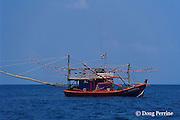 Thai squid-jigging boat, Similan Islands, Indian Ocean, Thailand ( Andaman Sea, Indian Ocean )