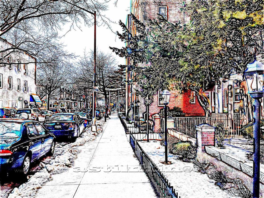 Street of Brooklyn, NYC.