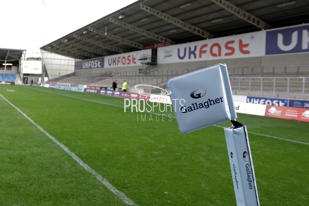AJ Bell stadium ready for the Gallagher Premiership Rugby match between Sale Sharks and Worcester Warriors at the AJ Bell Stadium, Eccles, United Kingdom on 9 September 2018.