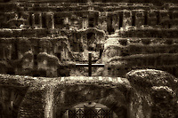 &ldquo;The Holy Cross blesses the Christian martyrs of the Roman Coliseum - BW&rdquo;&hellip;<br />