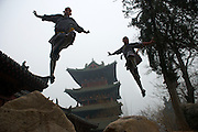 "The monks of Shaolin Temple (literally means ""temple in the woods of Shaoshi Mountain"") are trained in the martial art of Kung Fu.<br />