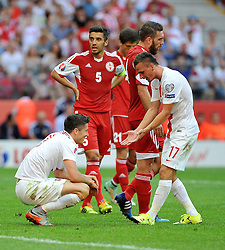 13.06.2015, Nationalstadion, Warschau, POL, UEFA Euro 2016 Qualifikation, Polen vs Greorgien, Gruppe D, im Bild ROBERT LEWANDOWSKI, SLAWOMIR PESZKO // during the UEFA EURO 2016 qualifier group D match between Poland and Greorgia at the Nationalstadion in Warschau, Poland on 2015/06/13. EXPA Pictures © 2015, PhotoCredit: EXPA/ Newspix/ RAFAL RUSEK<br /> <br /> *****ATTENTION - for AUT, SLO, CRO, SRB, BIH, MAZ, TUR, SUI, SWE only*****