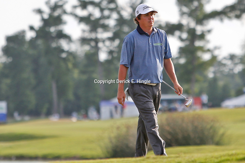 Apr 29, 2012; Avondale, LA, USA; Jason Dufner on the 18th second playoff hole during the final round of the Zurich Classic of New Orleans at TPC Louisiana. Mandatory Credit: Derick E. Hingle-US PRESSWIRE