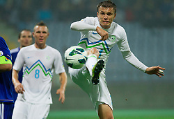 Zlatko Dedic of Slovenia during football match between National teams of Slovenia and Cyprus in 3rd Round of Group E of FIFA World Cup 2014 Qualification on October 12, 2012 in Stadium Ljudski vrt, Maribor, Slovenia. (Photo By Vid Ponikvar / Sportida)