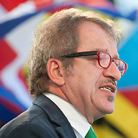 """Roberto Maroni addresses  participants during today Lega Nord rally in Venice under the slogan """"Prima Il Nord""""  (North First)  the Lega Nord with its new Secretary Roberto Maroni are trying to go back to their  1996 meeting in Venice with its original federalist credo"""