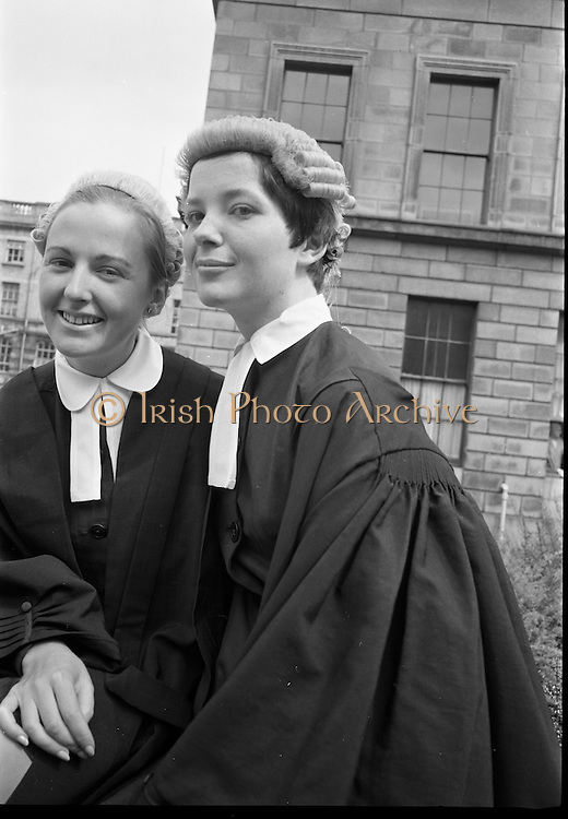 26/07/1967<br /> 07/26/1967<br /> 26 July 1967<br /> Calls to the Bar at the Four Courts, Dublin. Marie Teresa Bourke, Victoria House, Ballina and caroline Elizabeth Kenny, daughter of Kevin Michael Kenny, Ballybrack, Co. Dublin.