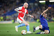 Slavia Prague's Miroslav Stoch (17) showing some skill during the Europa League quarter-final, leg 2 of 2 match between Chelsea and Slavia Prague at Stamford Bridge, London, England on 18 April 2019.