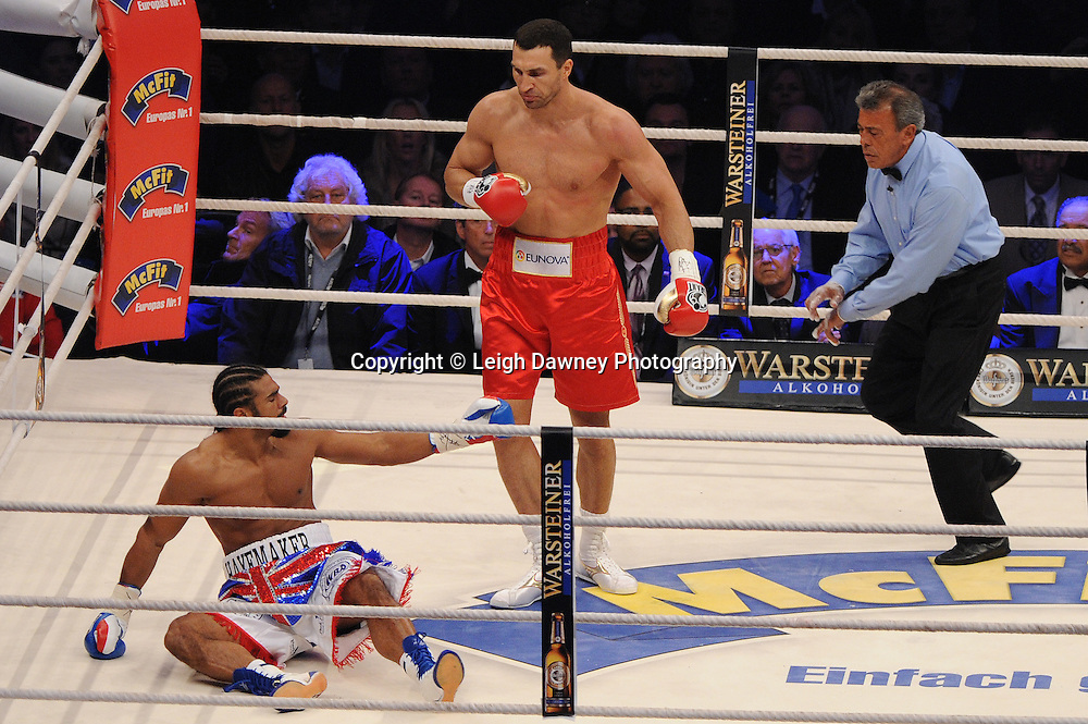 Wladimir Klitschko defeats David Haye for the WBO, WBA & IBF Heavyweight Title at Imtech Arena, Hamburg, Germany, 2nd July 2011. Photo credit: Leigh Dawney 2011