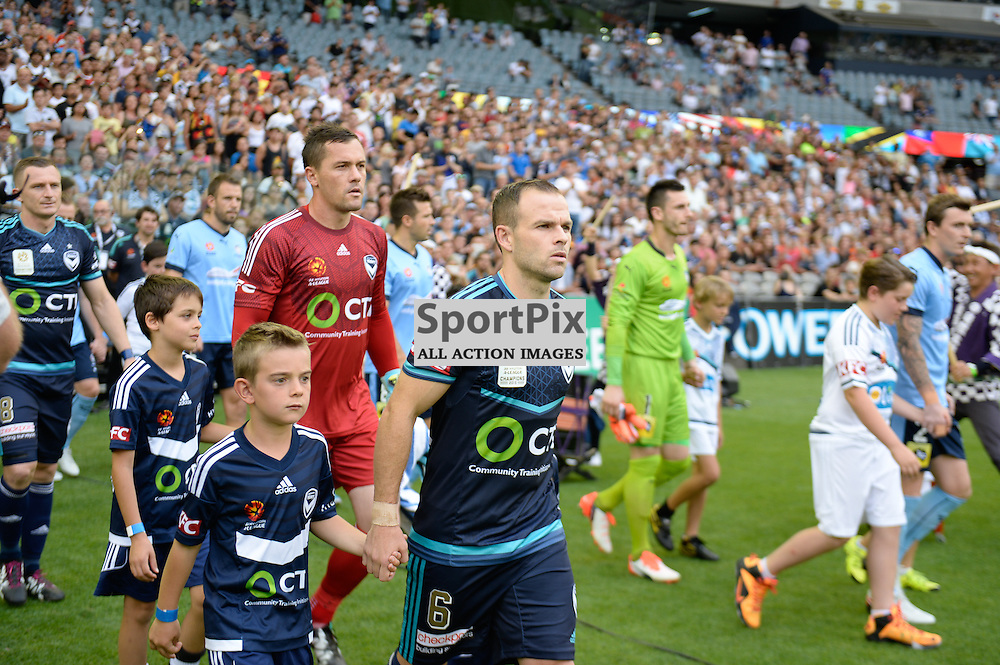 Leigh Broxham of Melbourne Victory, Danny Vukovic (GK) of Melbourne Victory, Hyundai A-League (Australia Day) - January 26th 2016 - RD16 - Melbourne Victory FC v Sydney FC at Etihad Stadium, Docklands, Melbourne, Australia in a 1:0 win to Victory - © Mark Avellino | SportPix.org.uk