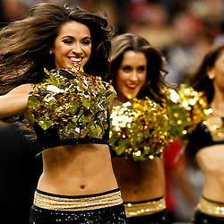 November 25, 2012; New Orleans, LA, USA; New Orleans Saints Saintsations perform during the second half of a game against the San Francisco 49ers at the Mercedes-Benz Superdome. The 49ers defeated the Saints 31-21. Mandatory Credit: Derick E. Hingle-US PRESSWIRE