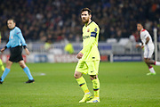 Lionel Messi of Barcelona during the UEFA Champions League, round of 16, 1st leg football match between Olympique Lyonnais and FC Barcelona on February 19, 2019 at Groupama stadium in Decines-Charpieu near Lyon, France - Photo Romain Biard / Isports / ProSportsImages / DPPI