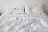 Unmade bed