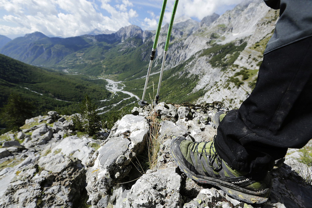 Looking  across the valley of Theth,  towards Qafa Pejes, Albania.