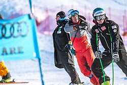 06.02.2019, Aare, SWE, FIS Weltmeisterschaften Ski Alpin, SuperG, Herren, Streckenbesichtigung, im Bild v.l.: Andreas Puelacher (Sportlicher Leiter ÖSV Ski Alpin Herren), Vincent Kriechmayr (AUT) // f.l.: Andreas Puelacher Austrian Ski Association head Coach alpine Men's Vincent Kriechmayr of Austria during the course inspection for the men's Super-G of FIS ski alpine world cup in Aare, Sweden on 2019/02/06. EXPA Pictures © 2019, PhotoCredit: EXPA/ Dominik Angerer