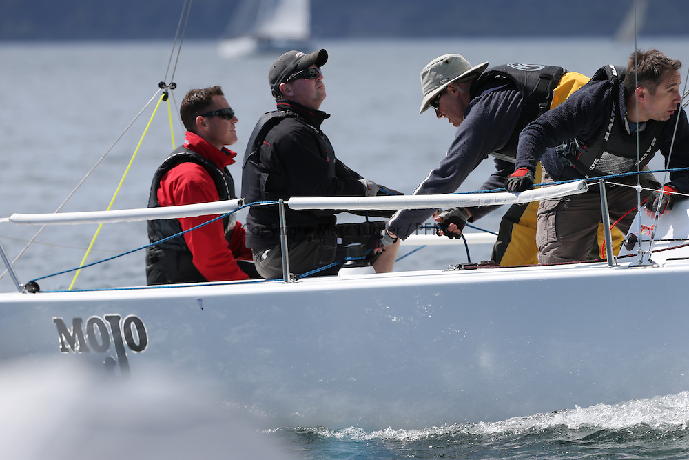 The Clyde Cruising Club's Scottish Series held on Loch Fyne by Tarbert. Day 2 racing in a perfect southerly<br /> <br /> GBR 117 ,Mojo ,Donald Syme ,FYC , J70
