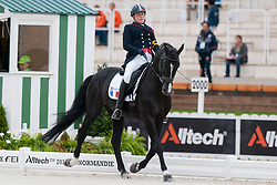 Nathalie Bizet riding Exquis Onassis at the Para-Dressage, Individual Tests, 2014 World Equestrian Games, Normandy France