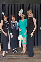 17/08/2017 Mandy Maher, Catwalk models, Treena Sweeney from Millars and Winner of the best dressed competition Leanne O'Malley from Maam and Guest judge Katie Geoghegan at the Connemara Pony Show in Clifden. Photo:Andrew Downes, xposure