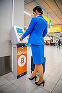 Euro's wisselen voor crypto's op Schiphol