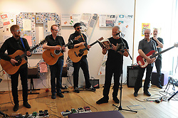THE SKIDS, DUNFERMLINE, 17-05-2018<br /> <br /> The Skids open the exhibition at the Dunfermline library and museum<br /> <br /> (c) David Wardle