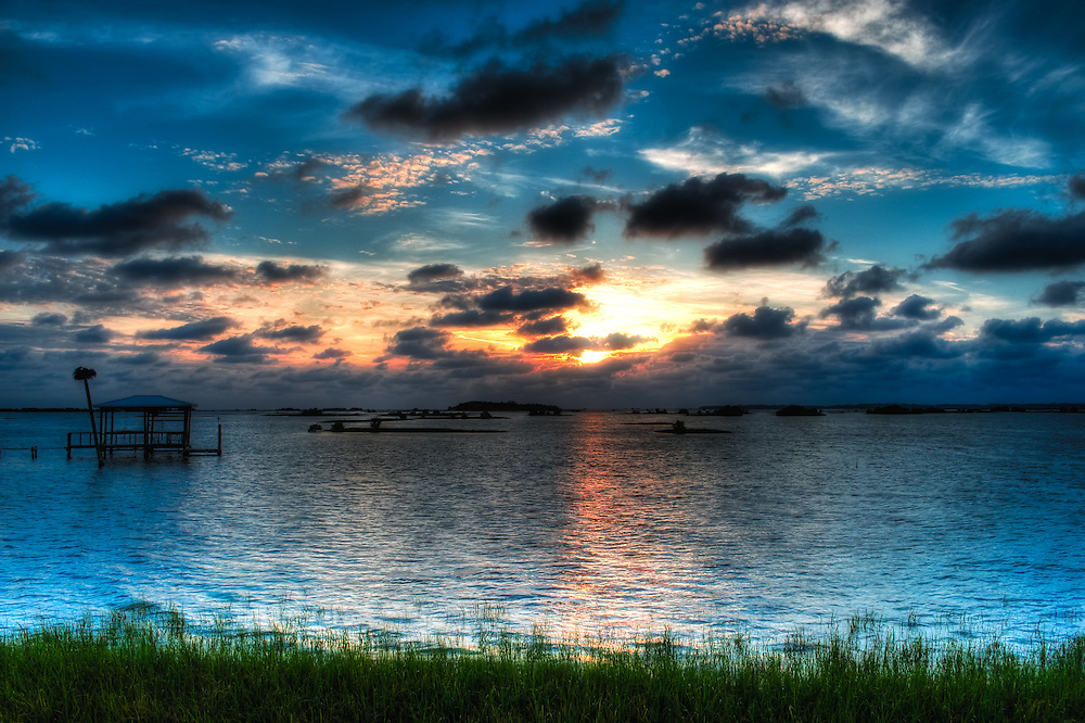 One of the most beautiful places in all of Florida - Cedar Key, at sunset.