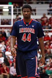 February 3, 2011; Stanford, CA, USA;  Arizona Wildcats forward Solomon Hill (44) during a time out against the Stanford Cardinal during the first half at Maples Pavilion.  Arizona defeated Stanford 78-69.