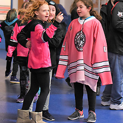 GEORGETOWN, ON - JANUARY 12: Georgetown Raiders fans on January 12, 2019 at Gordon Alcott Memorial Arena in Georgetown, Ontario, Canada.<br /> (Photo by Ken Lamb / OJHL Images)