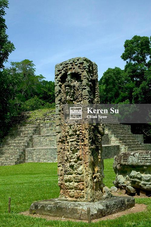 Stele G portraying King 18 Rabbit, Copan Ruins, Honduras