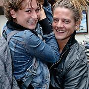 NLD/Amsterdam/20080820 - Persviewing het Schnitzelparadijs, Eva van Wijdeven en partner Tygo Gernandt