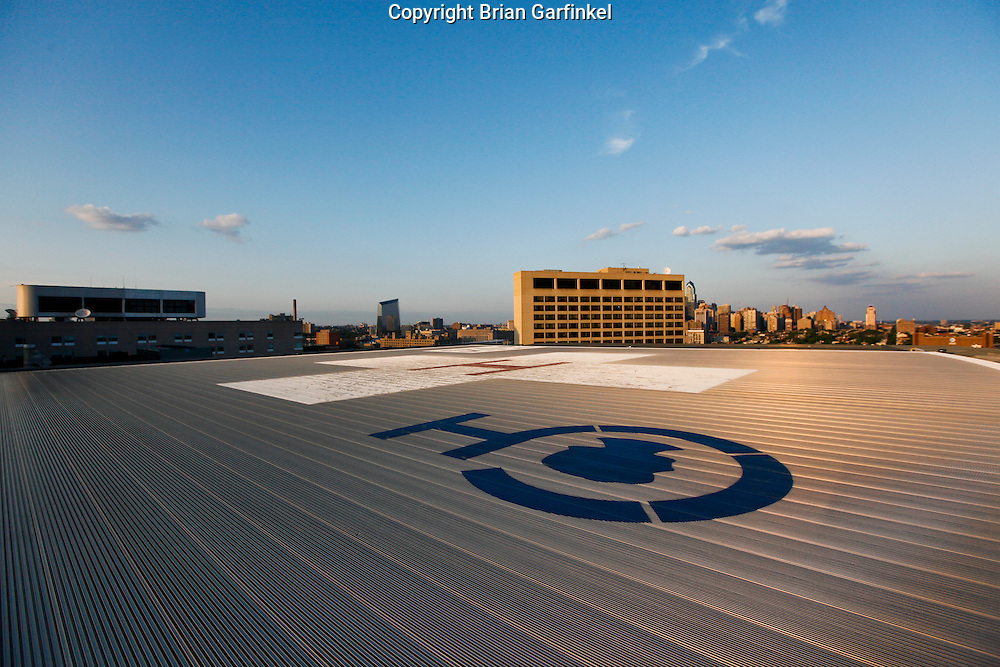 Philadelphia, Pennsylvania - The helipad on the roof of The Childrens Hospital of Philadelphia.