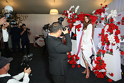 Australian Turf Club and Manning Cartell collaborate on a world-first fashion collection inspired by jockey silks. As Sydney super mare Winx aims for her 27th consecutive win and third title in the Group 1 $500,000 Colgate Optic White Stakes at Royal Randwick, supermodel Robyn Lawley was trackside taking in all the action racegoers can expect during the Australian Turf Club's 2018 Everest Carnival. Robyn showcased the first garment in the Everest Carnival Silks collection created in partnership with luxury Australian fashion house Manning Cartell. Australian Turf Club teamed up with Manning Cartell to create the bespoke collection of garments inspired by the striking patterns and bold colours of winning jockey silks. Robyn Lawley's Everest Carnival Silks dress is inspired by the pattern of Winx's winning jockey silks, with an exciting splash of Colgate's signature red. Additional garments from the Everest Carnival Silks collection will be showcased throughout Everest Carnival at De Bortoli Wines Golden Rose Day, TAB Epsom Day and Moët and Chandon Spring Champion Stakes Day. 15 Sep 2018 Pictured: Robyn Lawley. Photo credit: Richard Milnes / MEGA TheMegaAgency.com +1 888 505 6342