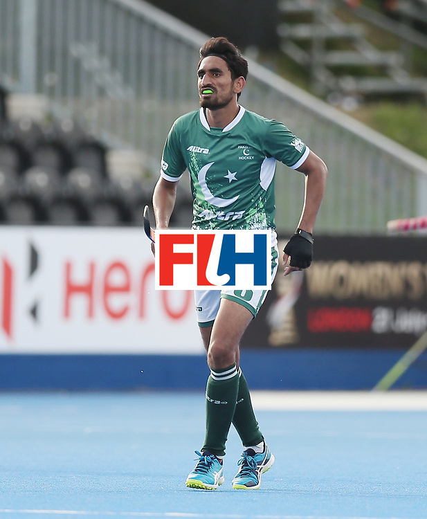 LONDON, ENGLAND - JUNE 15: Tasawar Abbas of Pakistan during the Hero Hockey World League Semi Final match between Netherlands and Pakistan at Lee Valley Hockey and Tennis Centre on June 15, 2017 in London, England.  (Photo by Alex Morton/Getty Images)