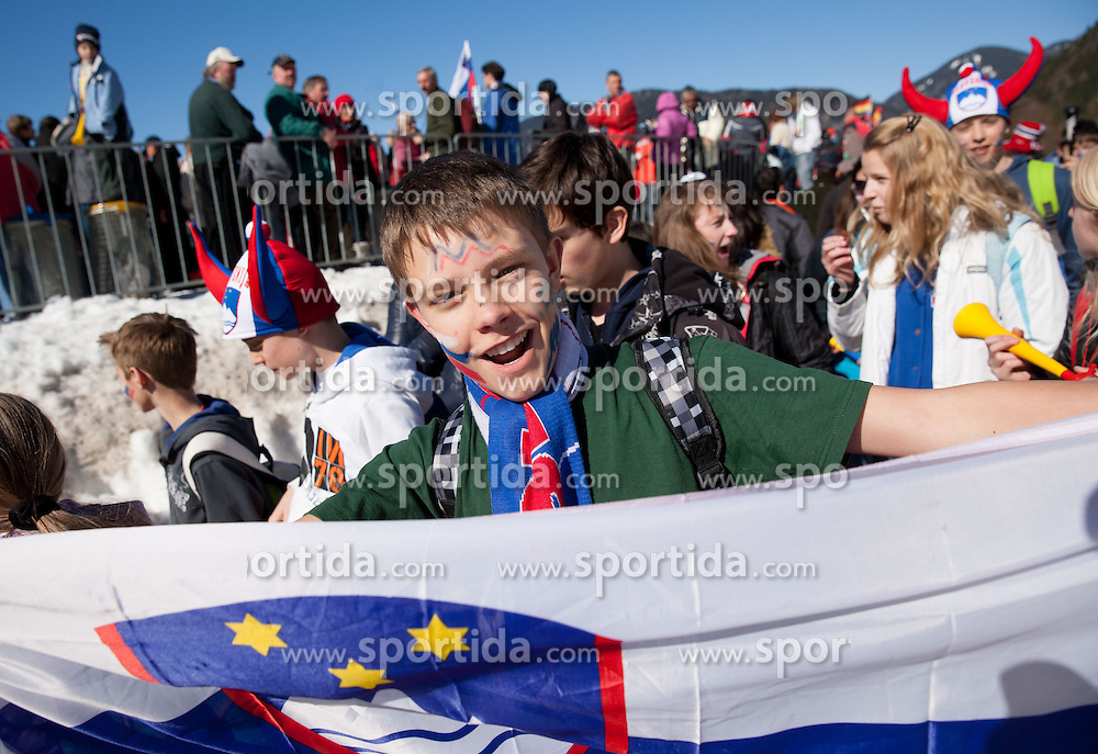 Supporters during the Flying Hill Individual Competition at 2nd day of FIS Ski Jumping World Cup Finals Planica 2013, on March 22, 2012, in Planica, Slovenia. (Photo by Vid Ponikvar / Sportida.com)