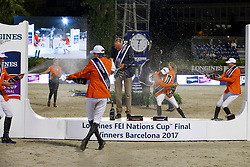 Team Netherlands, Ehrens Rob, Poels Aniek, Houtzager Marc, Smolders Harrie, Vrieling Jur, NED<br /> CSIO Barcelona 2017<br /> © Hippo Foto - Dirk Caremans<br /> 01/10/2017