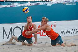 20180716 NED: CEV DELA Beach Volleyball European Championship day 2<br />Sven Vismans (1), Jannes van der Ham (2) of The Netherlands <br />©2018-FotoHoogendoorn.nl