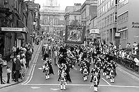 South Kirkby banner, 1983 Yorkshire Miner's Gala. Barnsley