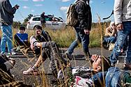 Mandag d. 7. september indvaderede knap 200 flygtninge Sydmotorvejen ved Rødby og begyndte den lange vandring mod Sverige. Flygtningene var forinden hevet af toget fra Tyskland på Rødbyhavn Station.
