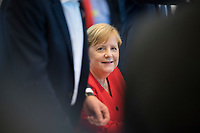 DEU, Deutschland, Germany, Berlin, 15.10.2019: Bundeskanzlerin Dr. Angela Merkel vor Beginn der Fraktionssitzung der CDU/CSU.