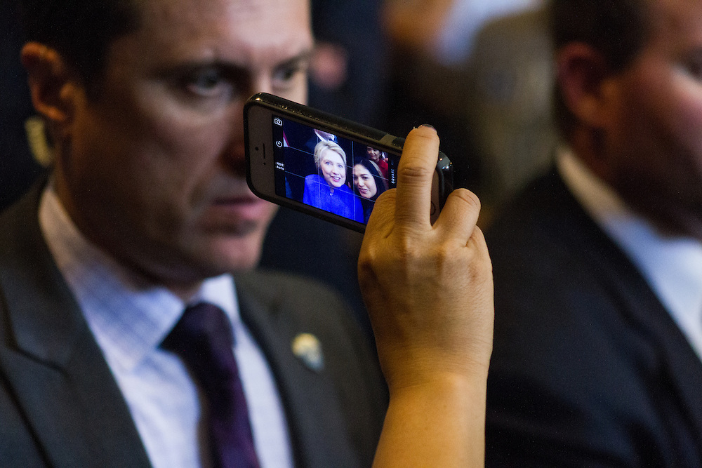 Hillary Clinton selfies with supporters. June 3rd, 2016 in Westminster California.