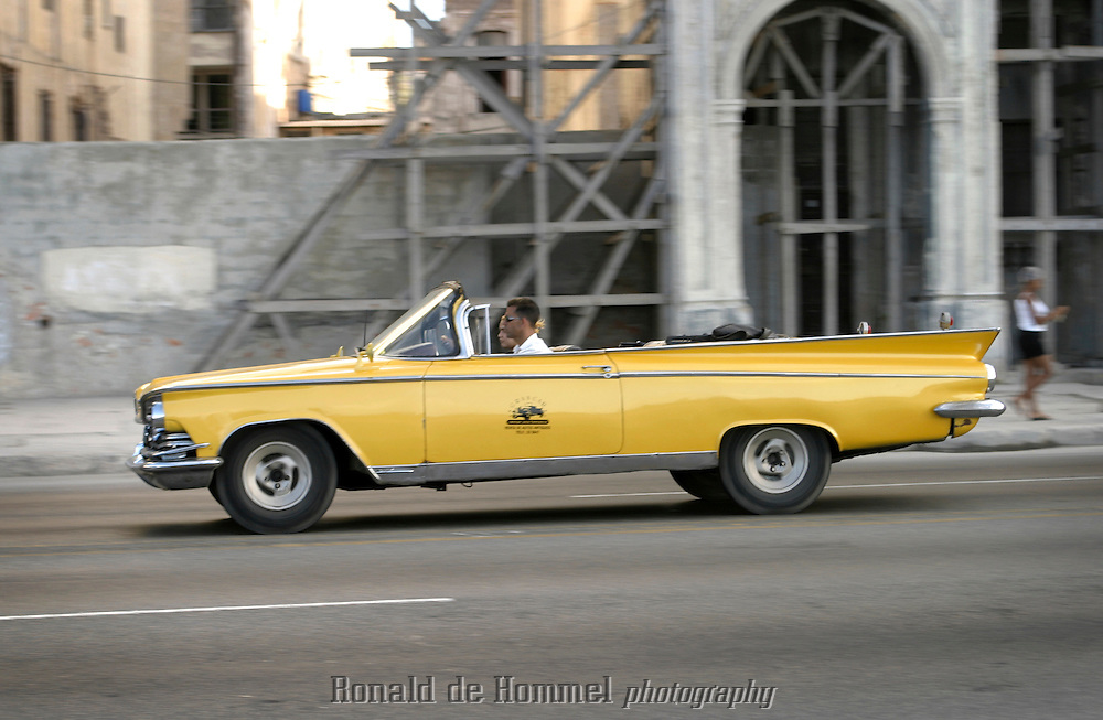 taxi convertible on the Malecon in Havana