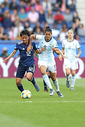 June 10, 2019: Paris, France: Sole Jaimes of Argentina and Minami  of Japan game valid for group D of the first phase of the Women's Soccer World Cup in the Parc Des Princes in Paris in France on Monday, 10. (Credit Image: © Vanessa Carvalho/ZUMA Wire)