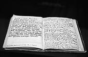 A prisoner's diary in Pawiak Prison Museum, Warsaw..