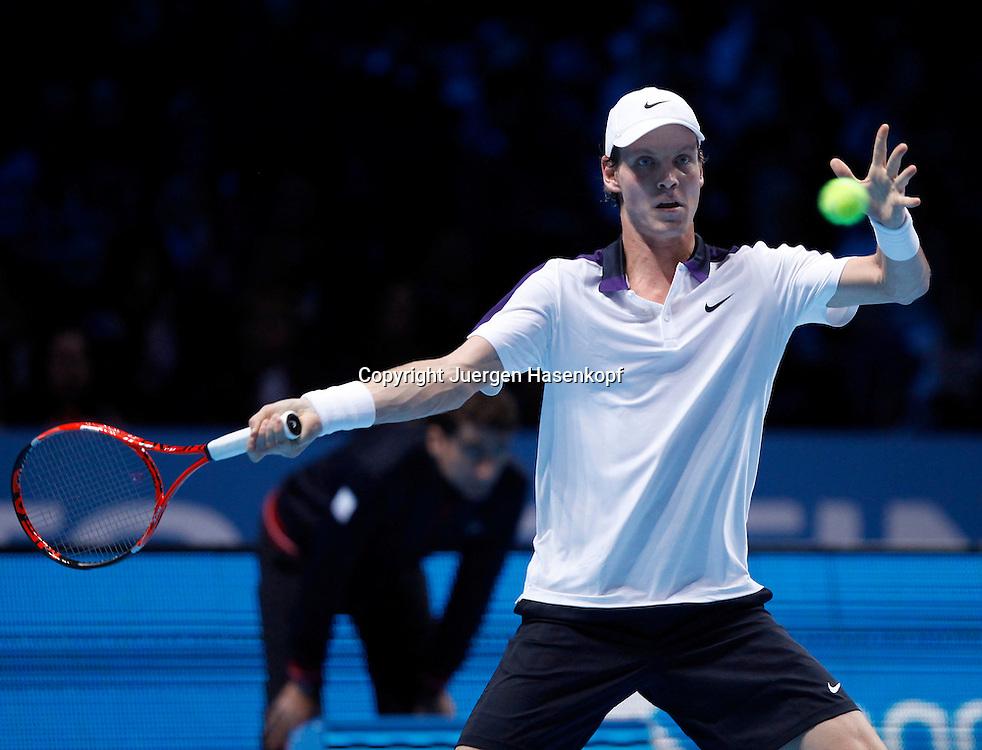 ATP World Tour Finals  2010 in der O2 Arena in London, HerrenTennis Turnier, WM, Weltmeisterschaft, Tomas Berdych (CZE),action