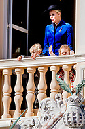19-11-2017 - MONACO - Princess Charlene of Monaco with Princess Gabriela and Prince Albert II of Monaco with Prince Jacques . The National Day of Monaco also known as The Sovereign Prince's Day is currently annually celebrated on 19 November. <br /> Andrea Casiraghi, Tatiana Santo Domingo and their daughter India  Princess Caroline and India Casiraghi Tatiana Santo Domingo and India Casiraghi Princess Stephanie and Louis Ducruet at the balcony of the royal palace during the National Day celebrations in Monaco COPYRIGHT ROBIN UTRECHT 19-11-2017 - MONACO - Prinses Charlene van Monaco met Prinses Gabriela en Prins Albert II van Monaco met Prins Jacques. De Nationale feest Dag van Monaco ook bekend als The Sovereign Prinsjesdag wordt momenteel jaarlijks gevierd op 19 november. COPYRIGHT ROBIN UTRECHT