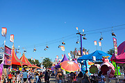 The Sky Lift Ride at the Orange County Fair Takes Visitors Over the Crowd